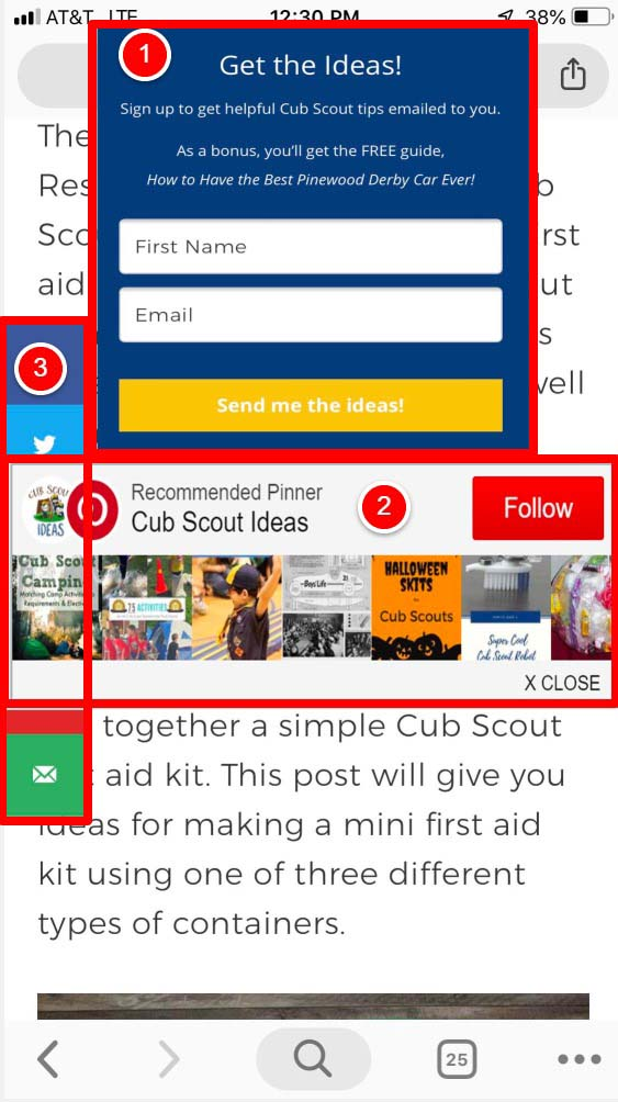 issues with mobile readability
