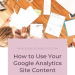 using google site content reports