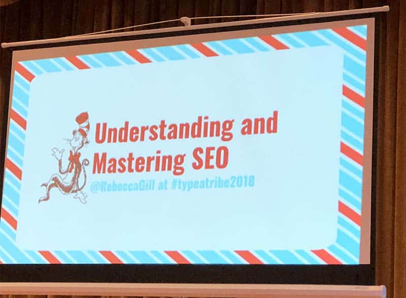 seo talk at blogger conference