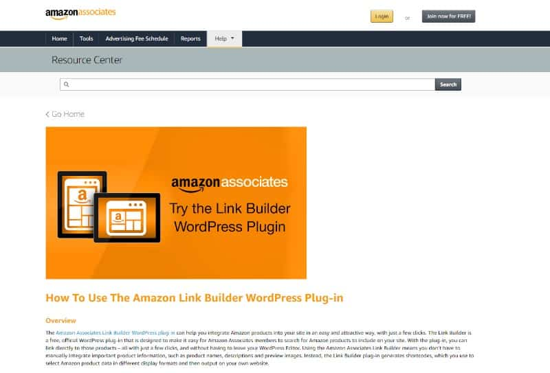 plugin page on amazon