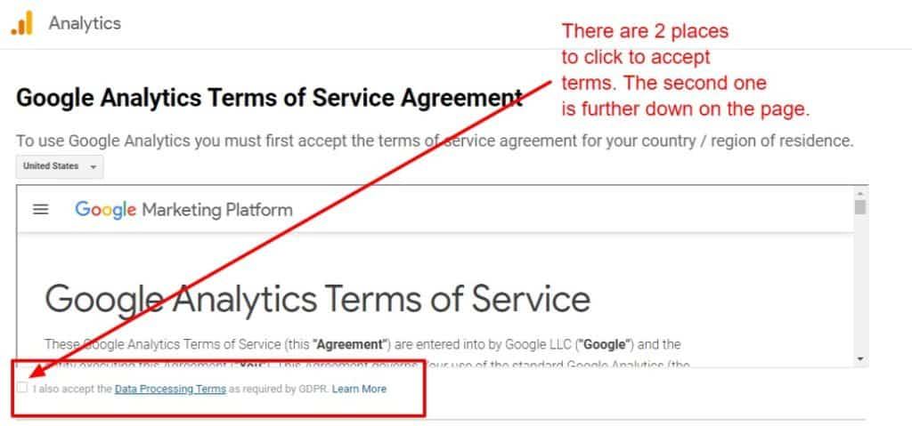 ga terms of service