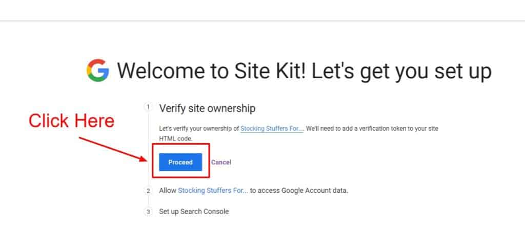 verify ownership of site