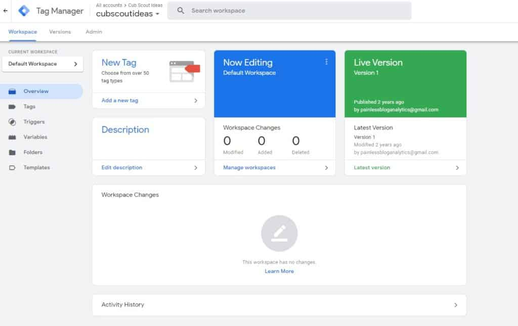 Google-Tag-Manager-screenshot