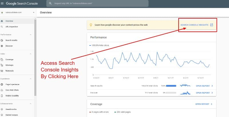 access search console insights from gsc