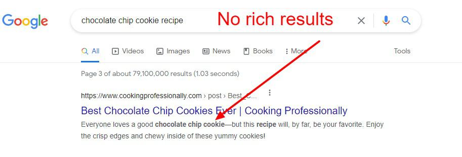 no rich results